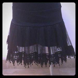 Vintage black tulle tutu